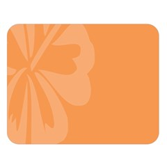 Hibiscus Sakura Tangerine Orange Double Sided Flano Blanket (large)  by Mariart