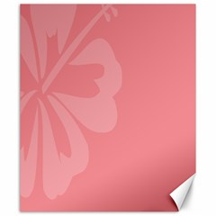 Hibiscus Sakura Strawberry Ice Pink Canvas 20  X 24   by Mariart