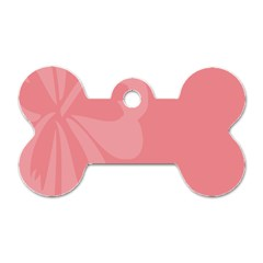 Hibiscus Sakura Strawberry Ice Pink Dog Tag Bone (one Side) by Mariart