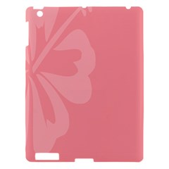 Hibiscus Sakura Strawberry Ice Pink Apple Ipad 3/4 Hardshell Case by Mariart