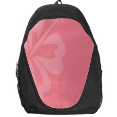 Hibiscus Sakura Strawberry Ice Pink Backpack Bag by Mariart