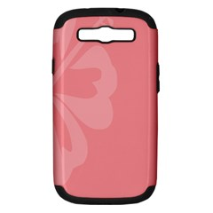 Hibiscus Sakura Strawberry Ice Pink Samsung Galaxy S Iii Hardshell Case (pc+silicone) by Mariart