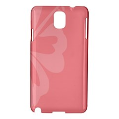 Hibiscus Sakura Strawberry Ice Pink Samsung Galaxy Note 3 N9005 Hardshell Case by Mariart