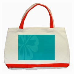 Hibiscus Sakura Scuba Blue Classic Tote Bag (red) by Mariart