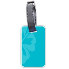 Hibiscus Sakura Scuba Blue Luggage Tags (two Sides)
