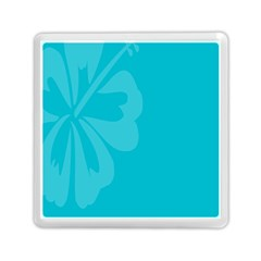 Hibiscus Sakura Scuba Blue Memory Card Reader (square)  by Mariart