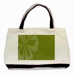 Hibiscus Sakura Woodbine Green Basic Tote Bag by Mariart
