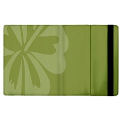 Hibiscus Sakura Woodbine Green Apple Ipad 3/4 Flip Case