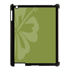 Hibiscus Sakura Woodbine Green Apple Ipad 3/4 Case (black) by Mariart