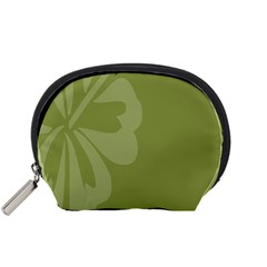 Hibiscus Sakura Woodbine Green Accessory Pouches (small)  by Mariart