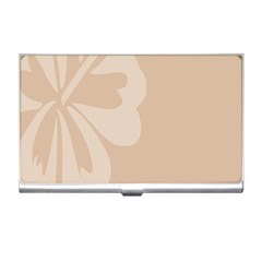 Hibiscus Sakura Toasted Almond Grey Business Card Holders