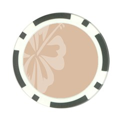 Hibiscus Sakura Toasted Almond Grey Poker Chip Card Guard (10 Pack) by Mariart