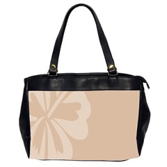 Hibiscus Sakura Toasted Almond Grey Office Handbags (2 Sides)  by Mariart