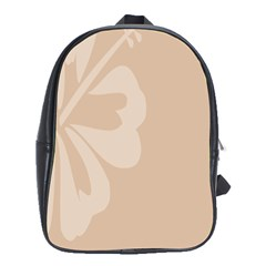 Hibiscus Sakura Toasted Almond Grey School Bags (xl)  by Mariart
