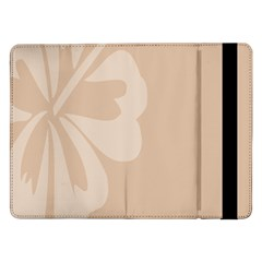 Hibiscus Sakura Toasted Almond Grey Samsung Galaxy Tab Pro 12 2  Flip Case by Mariart