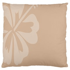 Hibiscus Sakura Toasted Almond Grey Large Flano Cushion Case (one Side) by Mariart