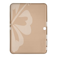Hibiscus Sakura Toasted Almond Grey Samsung Galaxy Tab 4 (10 1 ) Hardshell Case  by Mariart