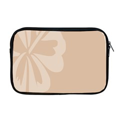 Hibiscus Sakura Toasted Almond Grey Apple Macbook Pro 17  Zipper Case by Mariart