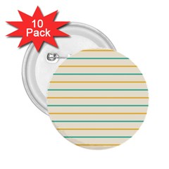 Horizontal Line Yellow Blue Orange 2 25  Buttons (10 Pack)