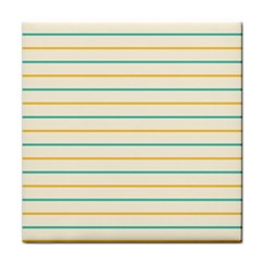 Horizontal Line Yellow Blue Orange Face Towel