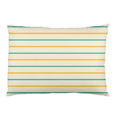 Horizontal Line Yellow Blue Orange Pillow Case by Mariart
