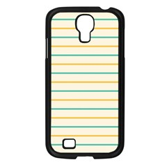 Horizontal Line Yellow Blue Orange Samsung Galaxy S4 I9500/ I9505 Case (black) by Mariart
