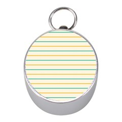 Horizontal Line Yellow Blue Orange Mini Silver Compasses by Mariart