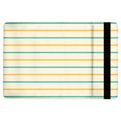 Horizontal Line Yellow Blue Orange Ipad Air Flip by Mariart