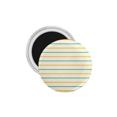 Horizontal Line Yellow Blue Orange 1 75  Magnets by Mariart