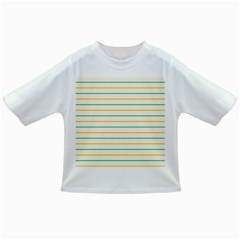 Horizontal Line Yellow Blue Orange Infant/toddler T Shirts by Mariart