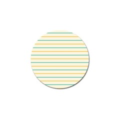 Horizontal Line Yellow Blue Orange Golf Ball Marker (4 Pack) by Mariart