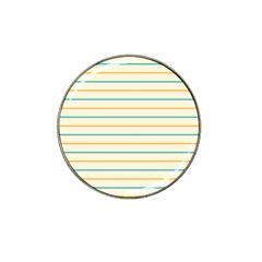 Horizontal Line Yellow Blue Orange Hat Clip Ball Marker (4 Pack) by Mariart