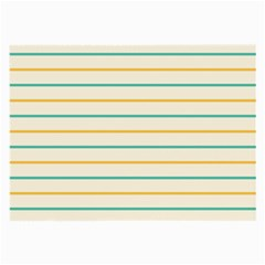 Horizontal Line Yellow Blue Orange Large Glasses Cloth (2 Side) by Mariart