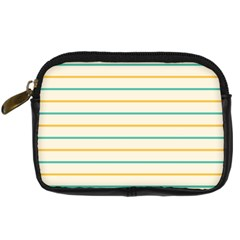 Horizontal Line Yellow Blue Orange Digital Camera Cases by Mariart