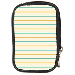 Horizontal Line Yellow Blue Orange Compact Camera Cases by Mariart