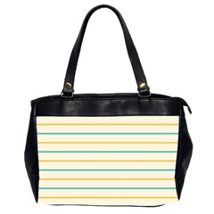 Horizontal Line Yellow Blue Orange Office Handbags (2 Sides)  by Mariart
