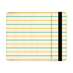 Horizontal Line Yellow Blue Orange Samsung Galaxy Tab Pro 8 4  Flip Case by Mariart