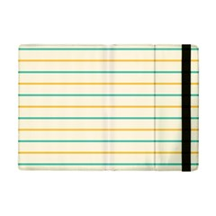 Horizontal Line Yellow Blue Orange Ipad Mini 2 Flip Cases by Mariart