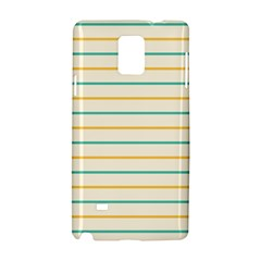 Horizontal Line Yellow Blue Orange Samsung Galaxy Note 4 Hardshell Case by Mariart