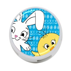 Easter Bunny And Chick  4 Port Usb Hub (two Sides)