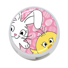 Easter Bunny And Chick  4 Port Usb Hub (two Sides)  by Valentinaart
