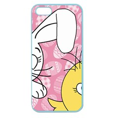 Easter Bunny And Chick  Apple Seamless Iphone 5 Case (color) by Valentinaart