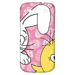 Easter Bunny And Chick  Samsung Galaxy S3 S Iii Classic Hardshell Back Case by Valentinaart