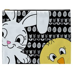Easter Bunny And Chick  Cosmetic Bag (xxxl)  by Valentinaart