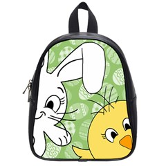 Easter Bunny And Chick  School Bags (small)  by Valentinaart
