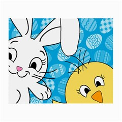 Easter Bunny And Chick  Small Glasses Cloth (2 Side)