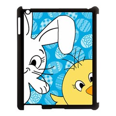 Easter Bunny And Chick  Apple Ipad 3/4 Case (black) by Valentinaart