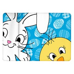 Easter Bunny And Chick  Samsung Galaxy Tab 10 1  P7500 Flip Case by Valentinaart