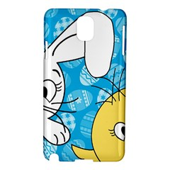 Easter Bunny And Chick  Samsung Galaxy Note 3 N9005 Hardshell Case by Valentinaart