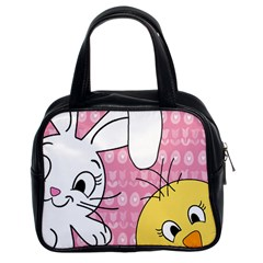 Easter Bunny And Chick  Classic Handbags (2 Sides) by Valentinaart